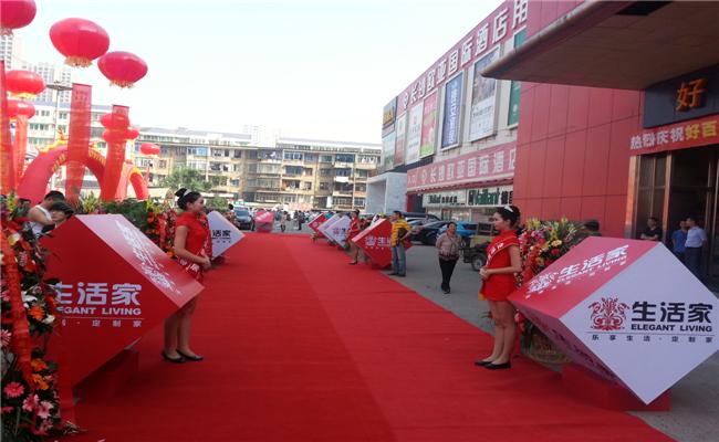 任达华出席长沙生活家定制家居体验馆开业仪式生活魔方展示