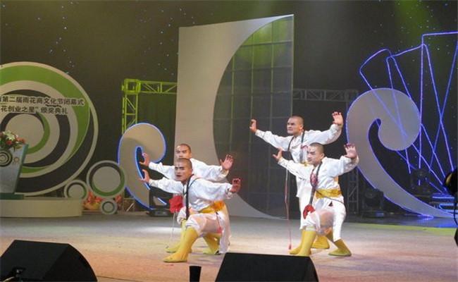 中国湖南第二届雨花商文化节闭幕式武术表演环节