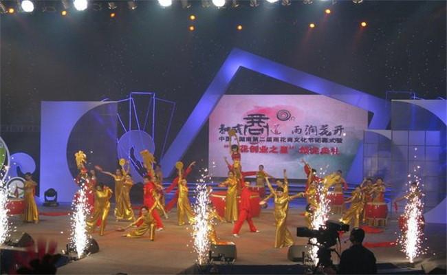 中国湖南第二届雨花商文化节闭幕式舞蹈杂技节目表演