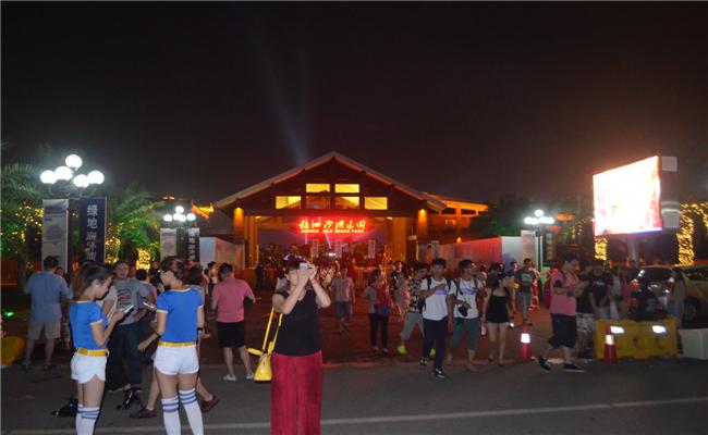 2014首届绿地海外滩长沙草莓音乐节活动观众陆续进场