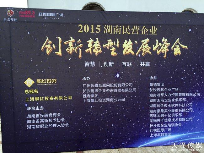 湖南民营企业发展峰会