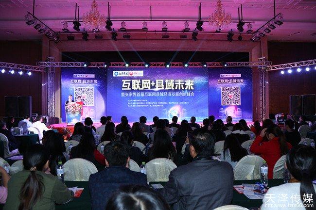 互联网+县域经济暨张家界首届互联网县域经济发展创新峰会现场